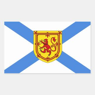 Bandera de Nueva Escocia Pegatina Rectangular