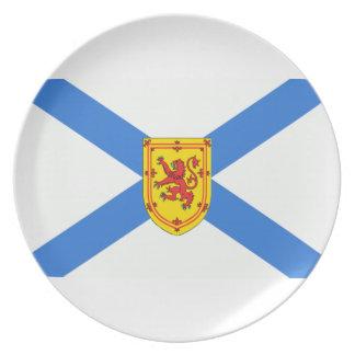 Bandera de Nueva Escocia Plato De Cena