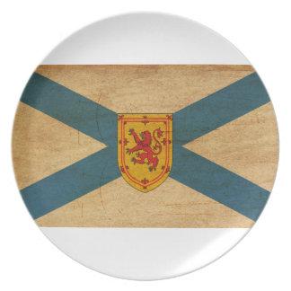 Bandera de Nueva Escocia Plato