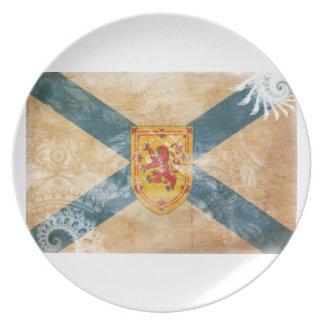Bandera de Nueva Escocia Platos De Comidas