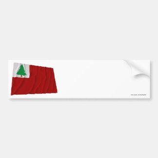 Bandera de Nueva Inglaterra Pegatina De Parachoque