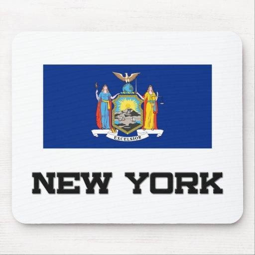 Bandera de Nueva York Alfombrilla De Raton