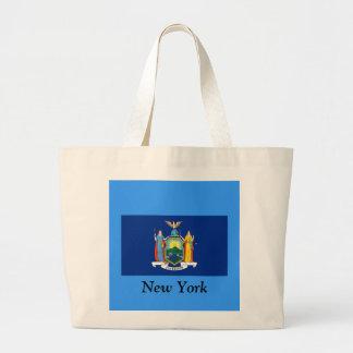 Bandera de Nueva York Bolsa Tela Grande