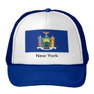 Bandera de Nueva York Gorros Bordados