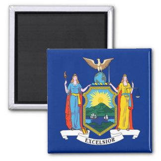 Bandera de Nueva York Imán Cuadrado