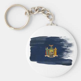 Bandera de Nueva York Llavero Redondo Tipo Pin