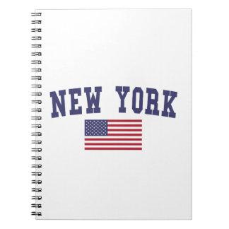 Bandera de Nueva York los E.E.U.U. Libretas