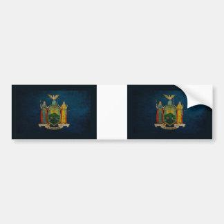 Bandera de Nueva York Pegatina Para Auto