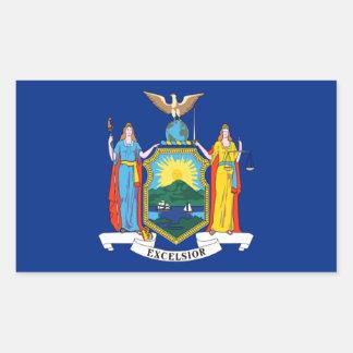 Bandera de Nueva York Pegatina Rectangular