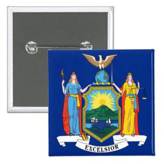 Bandera de Nueva York Pin Cuadrada 5 Cm