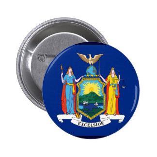 Bandera de Nueva York Pin Redondo 5 Cm