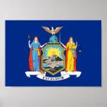 Bandera de Nueva York Poster
