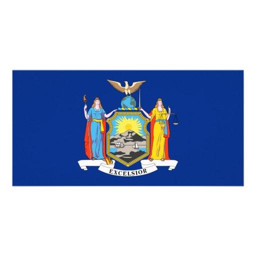 Bandera de Nueva York Tarjetas Fotograficas Personalizadas