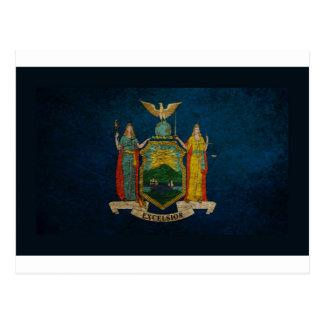 Bandera de Nueva York Tarjetas Postales