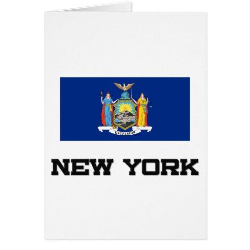 Bandera de Nueva York Tarjetón