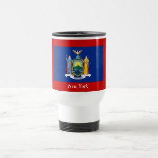 Bandera de Nueva York Taza De Viaje De Acero Inoxidable
