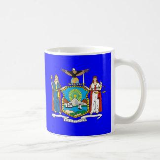 Bandera de Nueva York Tazas De Café