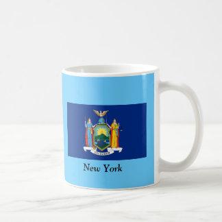 Bandera de Nueva York Taza Básica Blanca