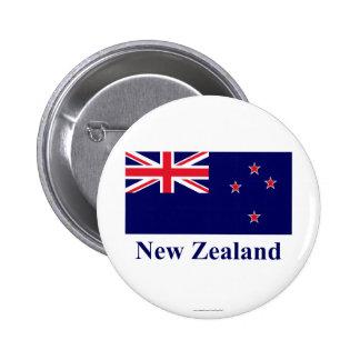 Bandera de Nueva Zelanda con nombre Pins