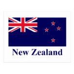 Bandera de Nueva Zelanda con nombre Postales