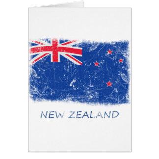 Bandera de Nueva Zelanda del Grunge Tarjetón