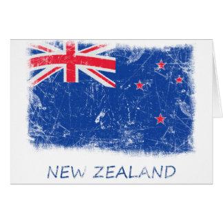 Bandera de Nueva Zelanda del Grunge Felicitación