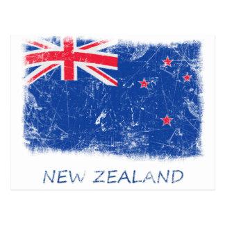 Bandera de Nueva Zelanda del Grunge Postal