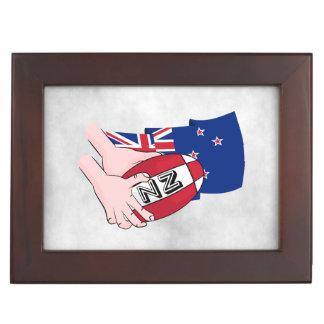 Bandera de Nueva Zelanda del paso de la bola de Cajas De Recuerdos