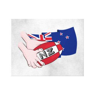 Bandera de Nueva Zelanda del paso de la bola de Impresiones De Lienzo