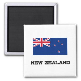 Bandera de Nueva Zelanda Imán Cuadrado