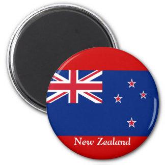 Bandera de Nueva Zelanda Imán Redondo 5 Cm