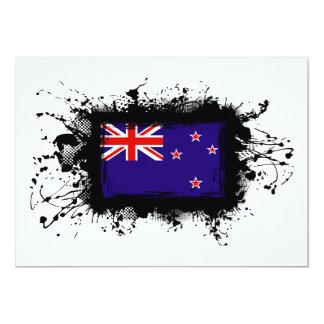 """Bandera de Nueva Zelanda Invitación 5"""" X 7"""""""