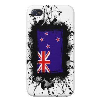 Bandera de Nueva Zelanda iPhone 4 Carcasas