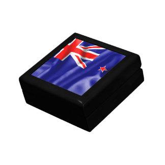Bandera de Nueva Zelanda Joyero Cuadrado Pequeño