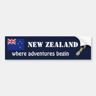Bandera de Nueva Zelanda + Pegatina para el parach Etiqueta De Parachoque