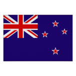 Bandera de Nueva Zelanda Poster