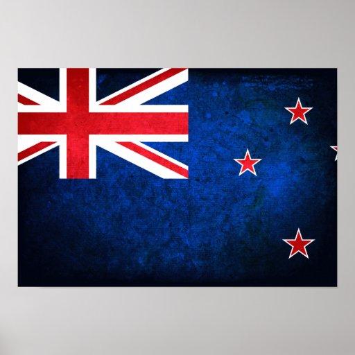 Bandera de Nueva Zelanda Póster