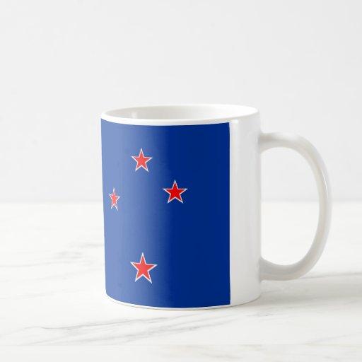 Bandera de Nueva Zelanda Taza Básica Blanca