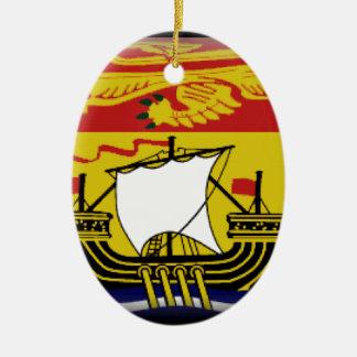 Bandera de Nuevo Brunswick (Canadá) Adorno Ovalado De Cerámica