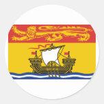 Bandera de Nuevo Brunswick, Canadá Pegatina Redonda