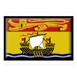 Bandera de Nuevo Brunswick (Canadá) Postal