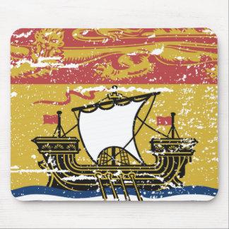 Bandera de NUEVO BRUNSWICK del vintage Alfombrillas De Raton
