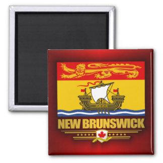Bandera de Nuevo Brunswick Imán Cuadrado