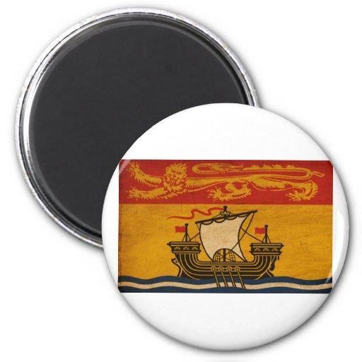 Bandera de Nuevo Brunswick Imanes De Nevera