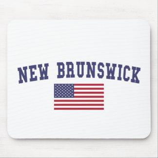 Bandera de Nuevo Brunswick los E.E.U.U. Alfombrilla De Ratón