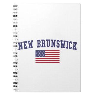 Bandera de Nuevo Brunswick los E.E.U.U. Libro De Apuntes Con Espiral