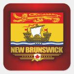 Bandera de Nuevo Brunswick Pegatina Cuadrada