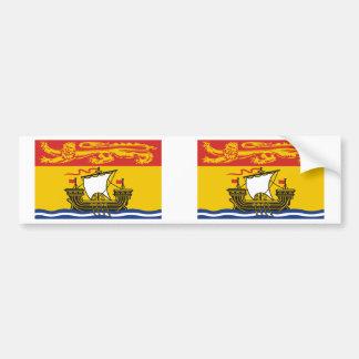 Bandera de Nuevo Brunswick Pegatina Para Auto