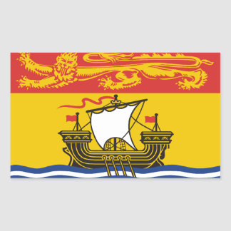 Bandera de Nuevo Brunswick Pegatina Rectangular