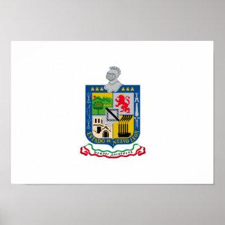 Bandera de Nuevo_Leon Posters